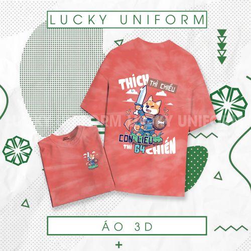 Áo 3D tie dye đỏ